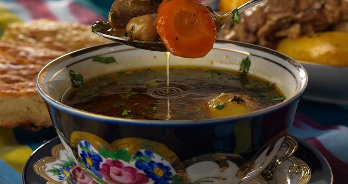 Приготовление шурпы по-узбекски