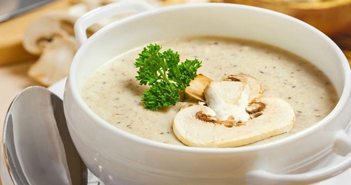 Крем суп с плавленым твердым сыром