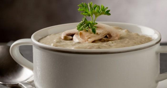 Крем суп с куриным филе