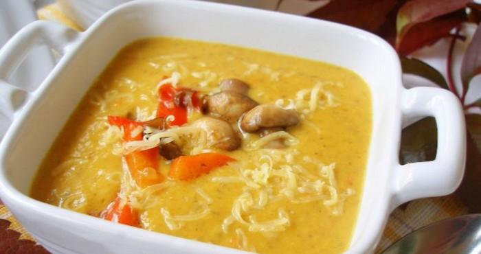 Крем суп с тыквой в мультиварке