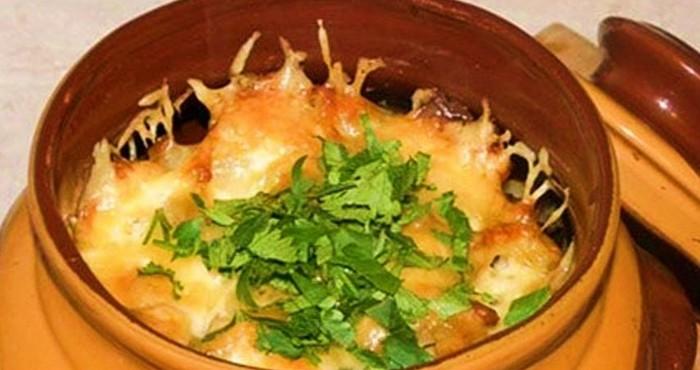 Мясо с картошкой в горшочках в духовке рецепт пошагово