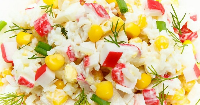 классический крабовый салат