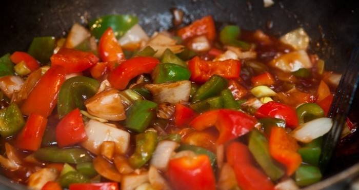 Овощи в кисло сладком соусе по китайски — 7