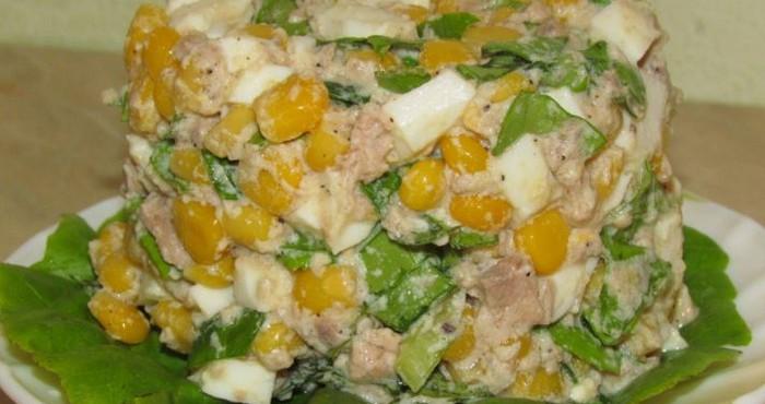 Столичный салат с курицей, без добавления горошка