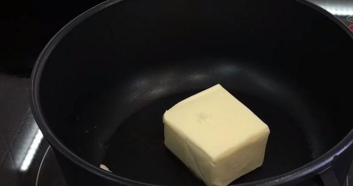 растворить масло в жидкую консистенцию