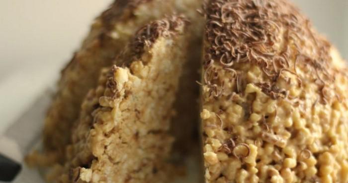 Торт для мужчины на день рождения «Муравейник» с коньяком