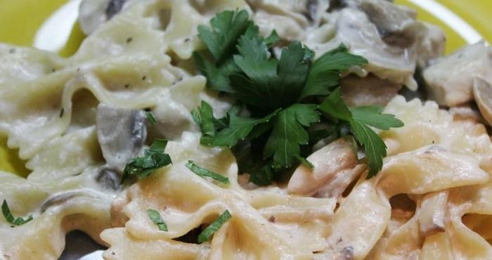 Сливочно-грибной соус для спагетти