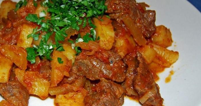 Рецепт азу по-татарски в мультиварке