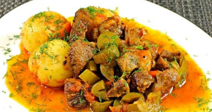 Азу по-татарски, приготовленное с картофелем