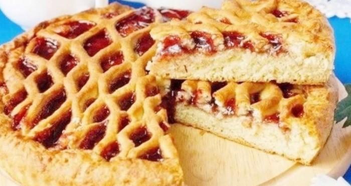 песочный пирог с вареньем на скорую руку рецепт с фото