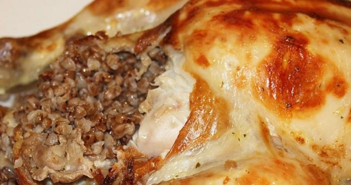 Блюдо с гречкой и курицей в духовке рецепт