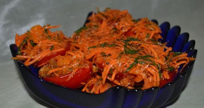 помидоры по-корейски на зиму