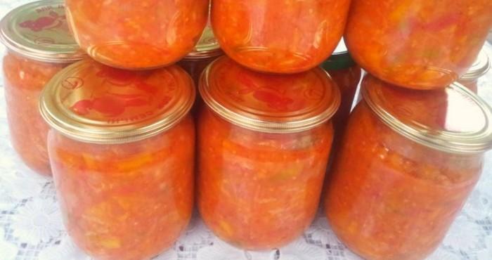 рассольник с томатом на зиму