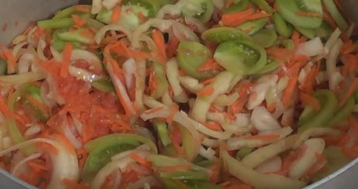 готовая овощная закладка