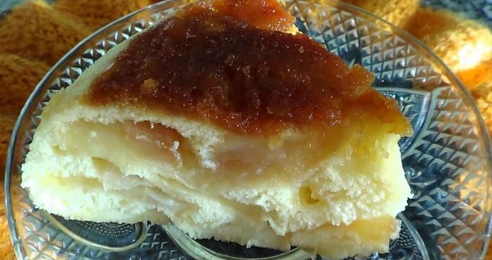 сладкий десерт с карамелью