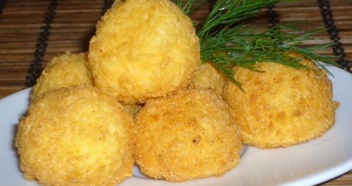 запеченные картофельные шарики