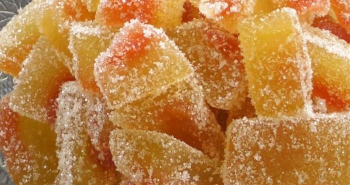 сладкий арбузное лакомство в сахаре