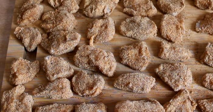 кусочки филе в панировке