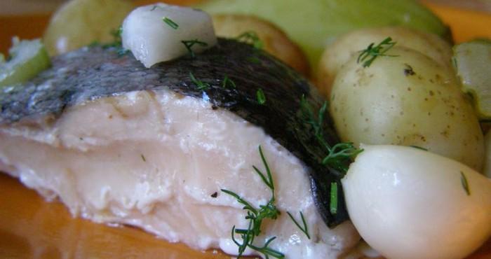 рыба на пару с картофелем