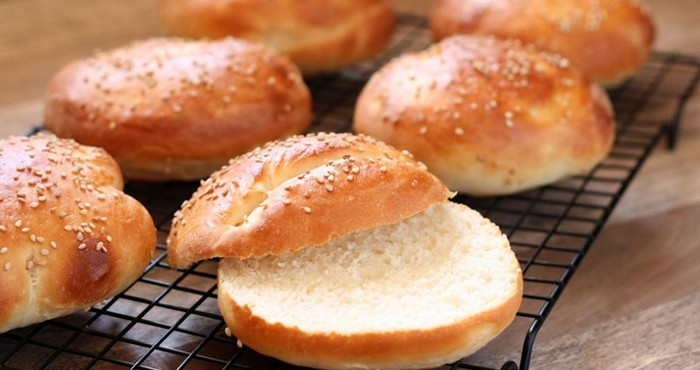 домашние булочки для сэндвичей