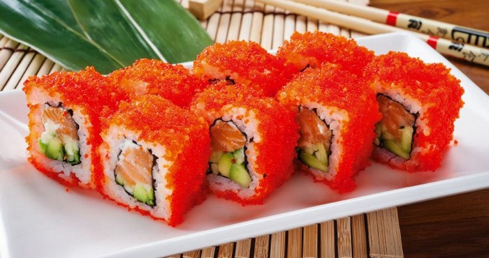 суши с икрой в домашних условиях