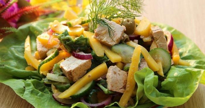 пикантный салат с азиатскими нотками
