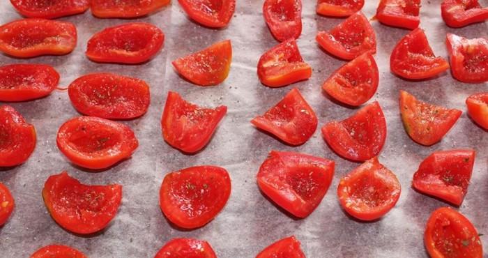 раскладка овощей на противне