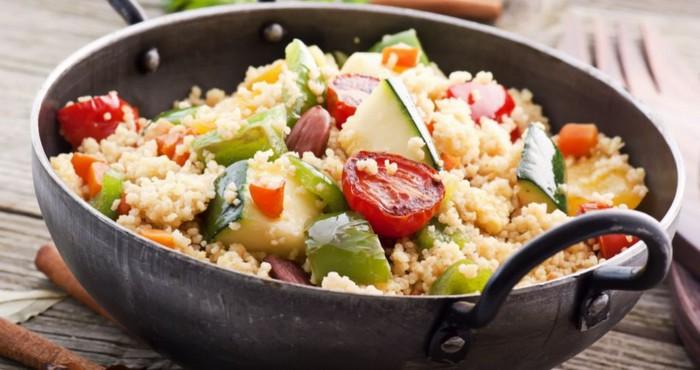 горячее блюдо с овощами