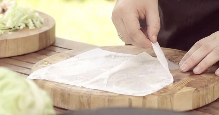 подготовка рисовой бумаги