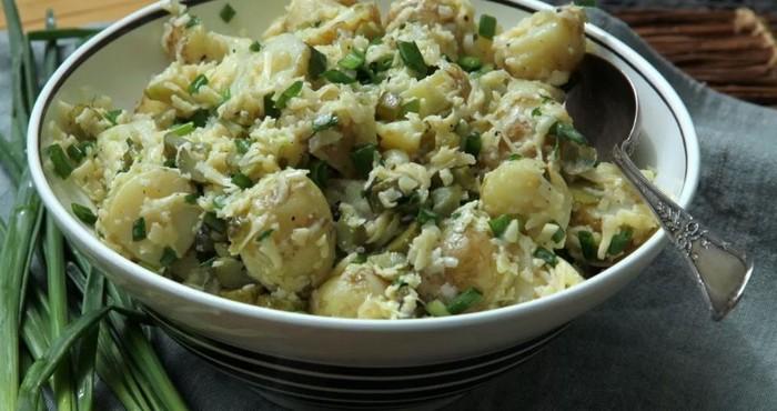 американский салат с картофелем