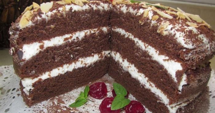 насыщенный десерт «Чёрный принц»