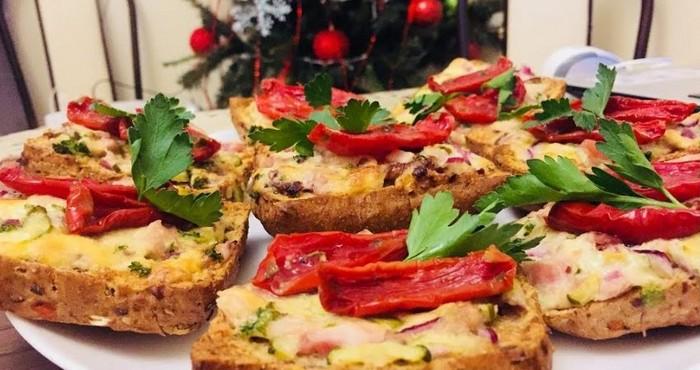 новогодняя закуска с овощами