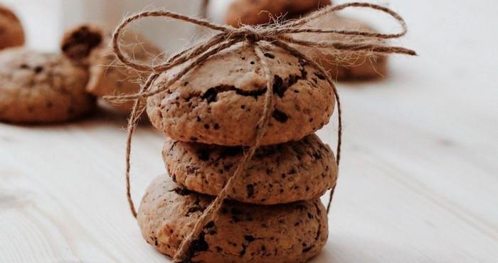 оригинальное печенье с шоколадом