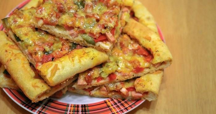 пицца на кефирном тесте в духовке