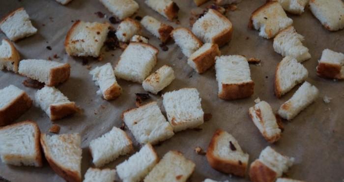 приготовление сухариков в духовке