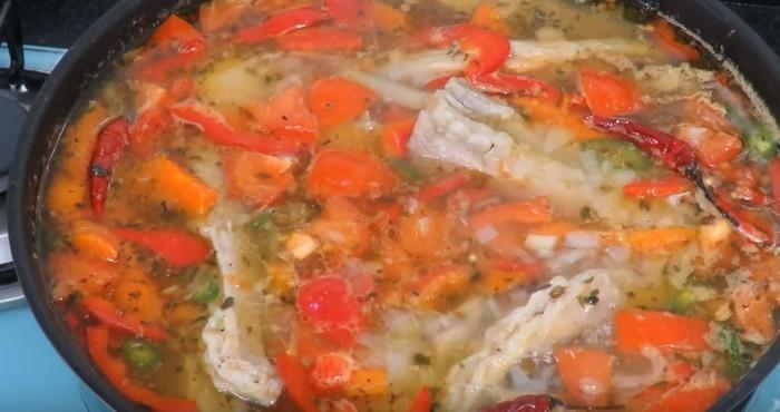 готовый суп с бараниной