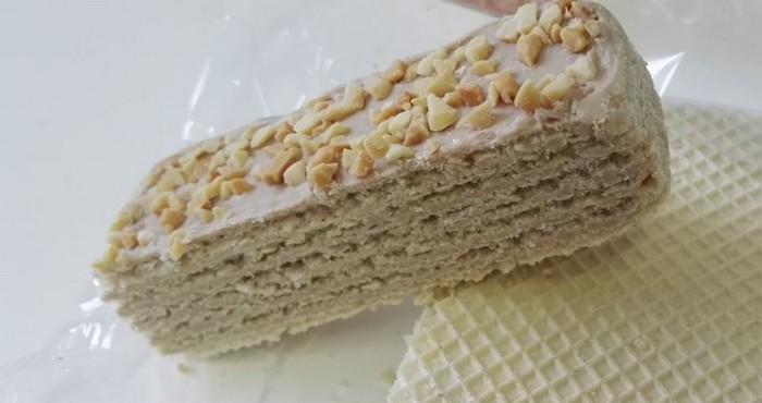 традиционный десерт из вафель