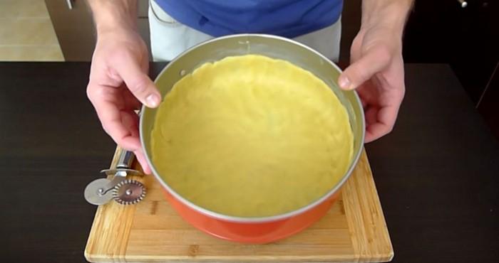 основа пирога в форме
