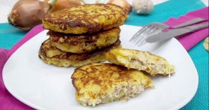нежные картофельные котлетки с мясом