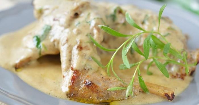 ароматное куриное мясо с зеленью