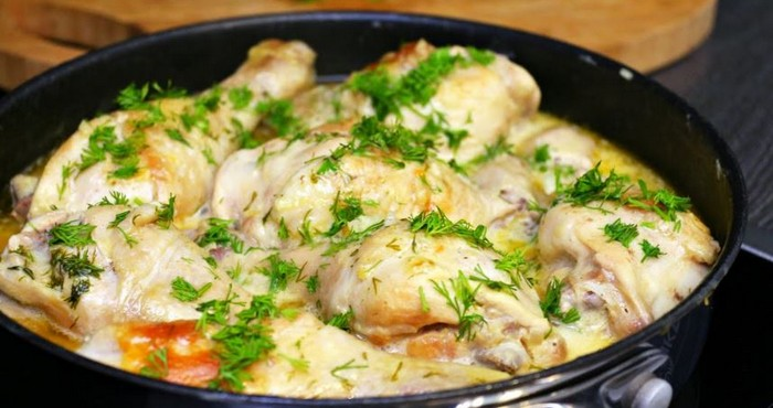 вкусная курица в сметане