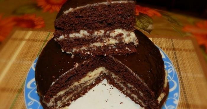 пирог с шоколадом и кокосом в мультиварке