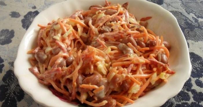 пикантная закуска с корейской морковкой