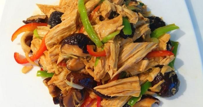 корейский салат с грибами и редькой