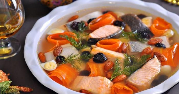 праздничная закуска из лосося