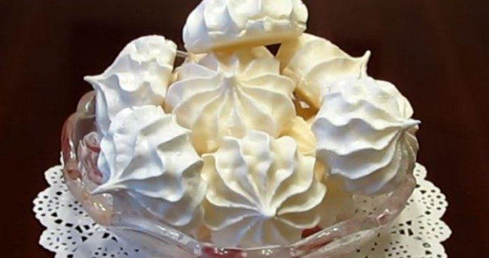 Безе в духовке – сладкий и воздушный десерт