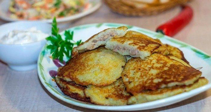 Рецепты картофельных драников с фаршем