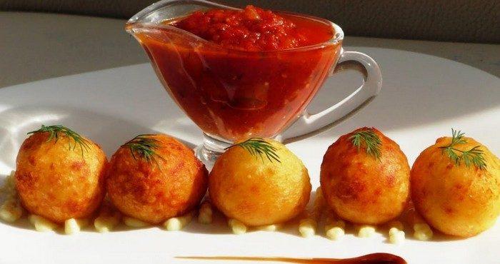 Как приготовить хрустящие картофельные шарики из пюре