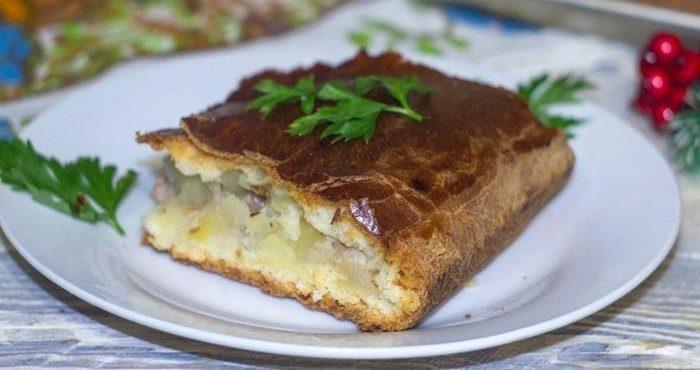 Как приготовить сытный пирог с курицей и картошкой