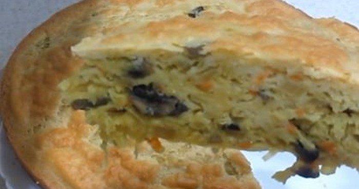 Постный пирог с капустой — вкусные пошаговые рецепты
